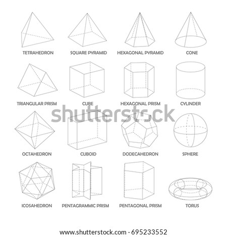all basic 3 d shapes template realistic のベクター画像素材
