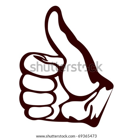 All be well.Isolated object on a white background.A hand shows a gesture all be well. - stock vector