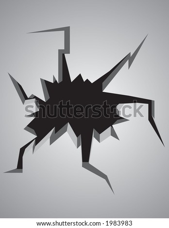 All cracked up vector perfect for adding text inside the crack.  Can be resized to ones desire. - stock vector