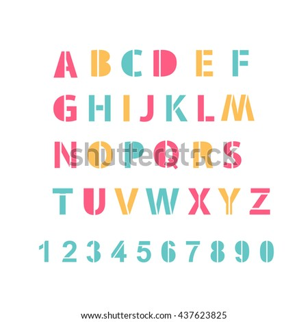 All Letters Alphabet Numbers Stock Vector Shutterstock