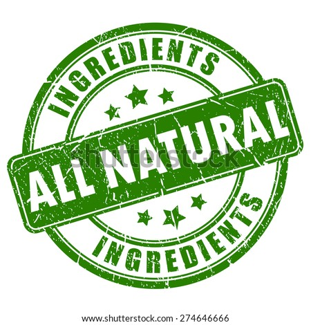 All natural ingredients vector stamp - stock vector
