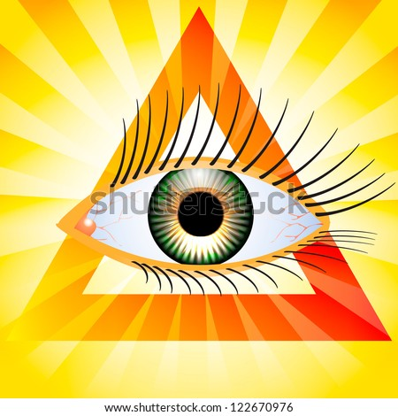 All seeing eye - stock vector