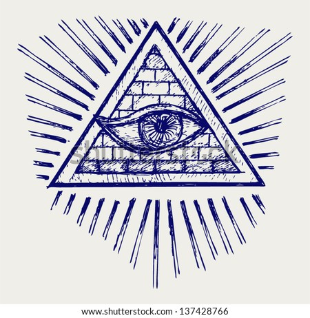 All seeing eye. Doodle style