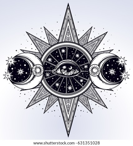 All Seeing Eye Is On The Traingle With A Starninght Sky Beling Of Which