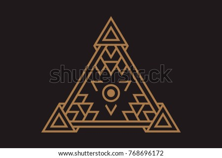 All Seeing Icon Illustration Symbol Illuminati Stock Vector Hd