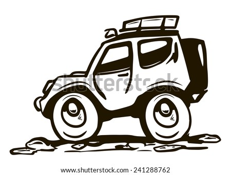 All wheel drive car - stock vector