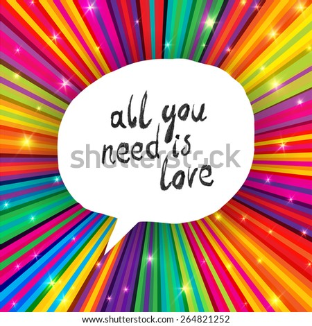All You Need Is Love Poster - stock vector