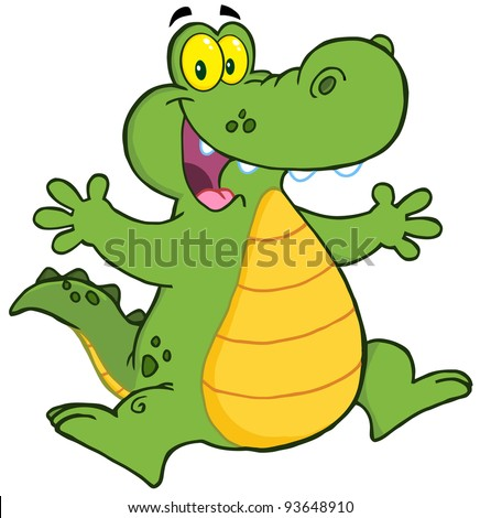 Alligator Jumping - stock vector