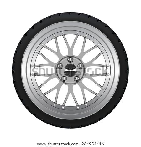 Alloy Wheel - stock vector