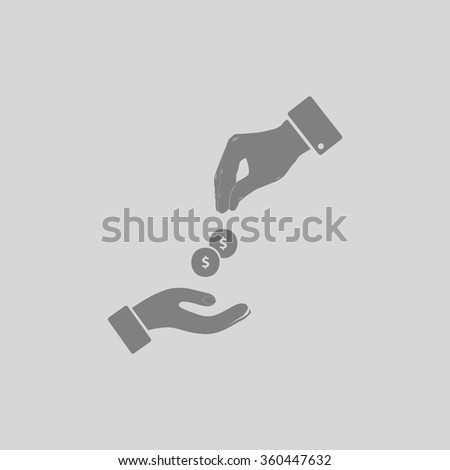 alms - Grey flat icon on gray background - stock vector