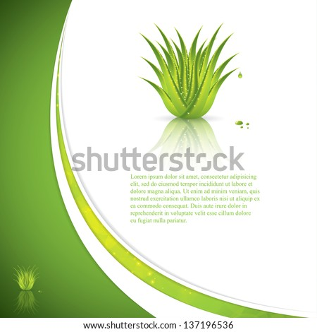 Aloe Vera concept design - stock vector