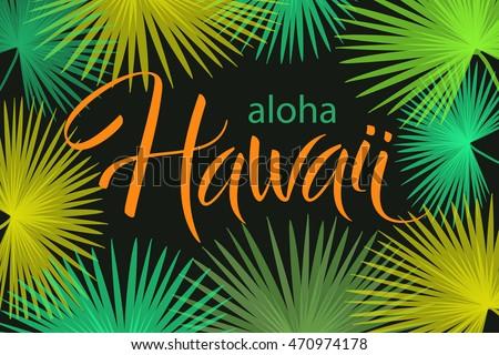 aloha hawaii hand written vector lettering stock vector 470974178 shutterstock. Black Bedroom Furniture Sets. Home Design Ideas
