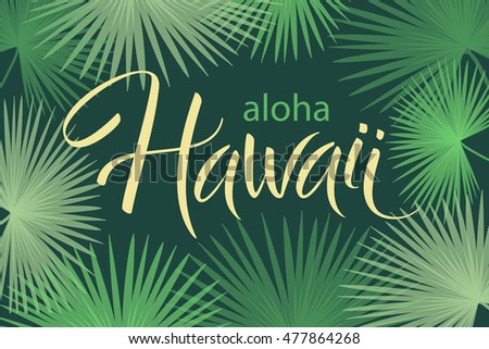 aloha hawaii hand written vector lettering stock vector 477864268 shutterstock. Black Bedroom Furniture Sets. Home Design Ideas