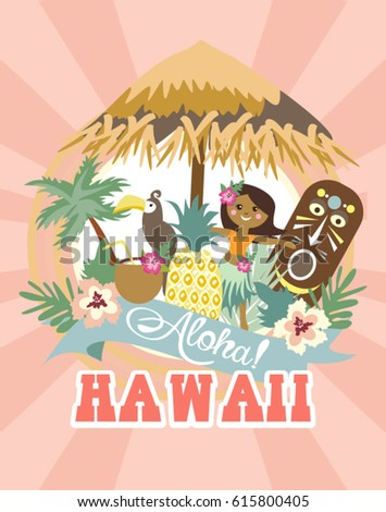 Aloha party invitation card stock vector 615800405 shutterstock aloha party invitation card stopboris Gallery