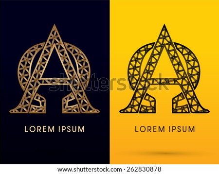 Alpha Omega Luxury Font Designed Using Stock Photo Photo Vector