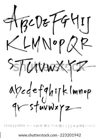 alphabet - stock vector