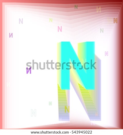 alphabet and N, creative case with banner