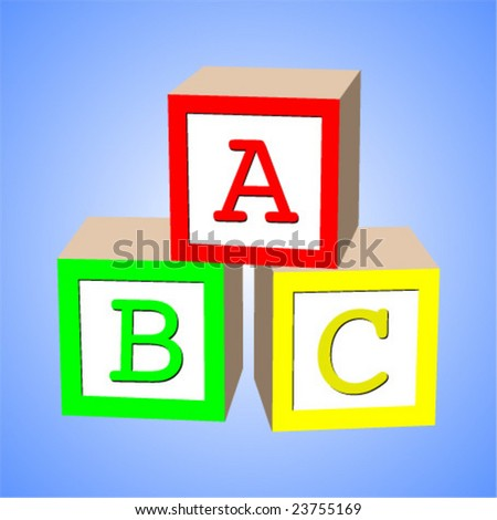 alphabet block vector - stock vector
