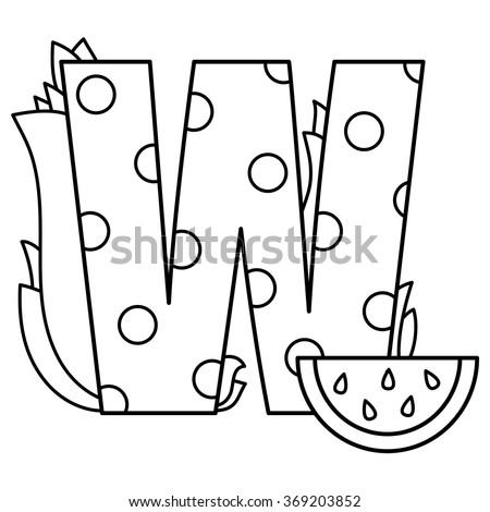 W Is For Watermelon Stock Photos Royalty Free Images Amp Vectors