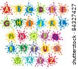 Alphabet design in a colorful style. Vector Illustration - stock vector