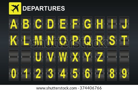 Schedule flight stock photos images pictures shutterstock - Putting together stylish kitchen abcs ...