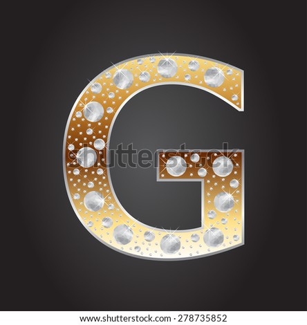 Alphabet letter G with diamonds.Abstract logo G.Vector illustration. - stock vector