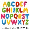 Alphabet letters - stock photo