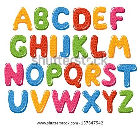 Alphabet letters - stock vector