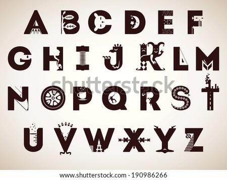 negative space letters alphabet splattered stains stock 23758 | stock vector alphabet of symbols every letter was illustrated as a creative sign minimalistic and smart 190986266