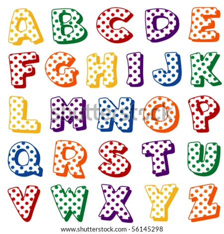 Alphabet polka dots original letter design stock illustration 56520619 shutterstock - Lettre alphabet original ...