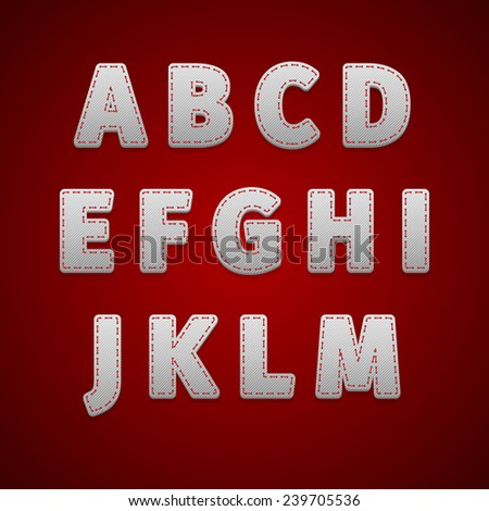 Alphabet retro colour style. Vector illustration, EPS - stock vector