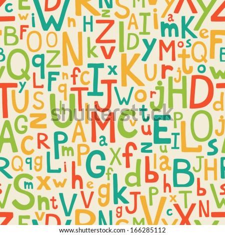 alphabet seamless pattern - stock vector