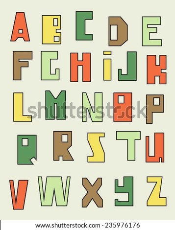 Alphabet vector (Can be used as texture for cards, invitations, DIY projects, web sites or for any other design)