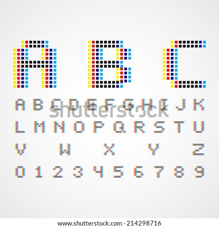 alphabetic fonts and numbers