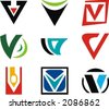 Alphabetical Logo Design Concepts. Letter V. Check my portfolio for more of this series. - stock vector