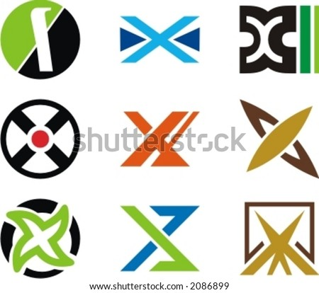 Alphabetical Logo Design  X Design Logo