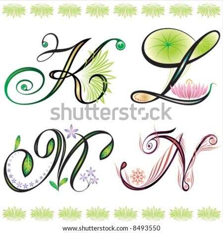 Alphabets Elements Design Series F Stock Vector 8493556 - Shutterstock