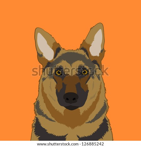 Alsatian, The buddy dog - stock vector