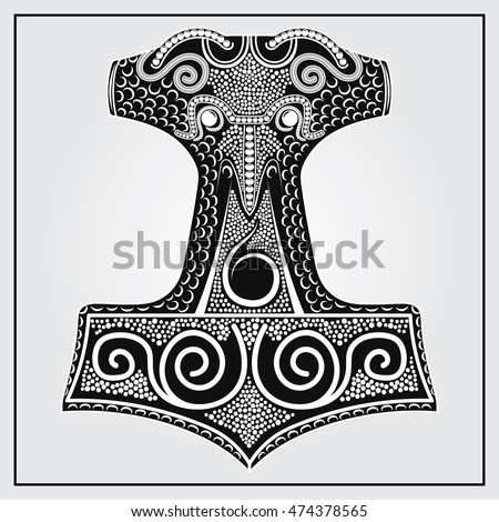 available here etsy thors hammer replica stock vector. Black Bedroom Furniture Sets. Home Design Ideas