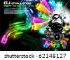 Alternative Discoteque Music Flyer with Attractive Rainbow Colours - stock vector