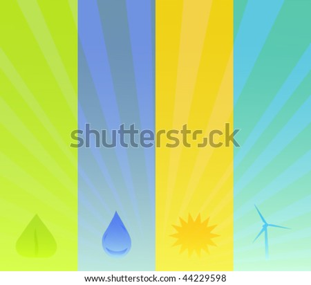 Alternative Energy Background - stock vector