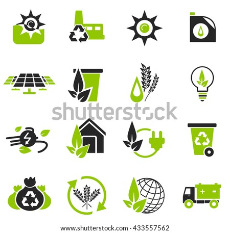 Alternative energy simply icons for web and user interfaces