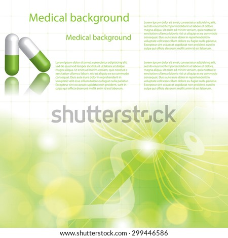 Alternative medication concept green background  - stock vector