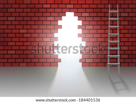 alternative solution to the problems - stock vector