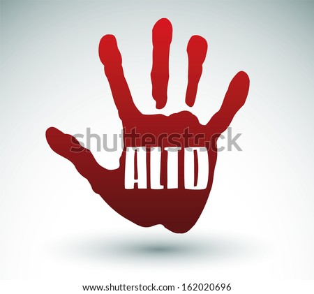 Alto - Stop spanish text - Hand illustration