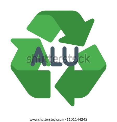 Alu Recycle Symbol Stock Vector 1101144242 Shutterstock