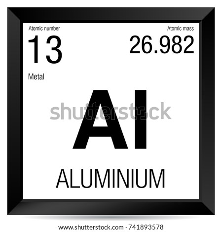 Aluminium symbol element number 13 periodic stock vector 2018 element number 13 of the periodic table of the elements chemistry urtaz Images