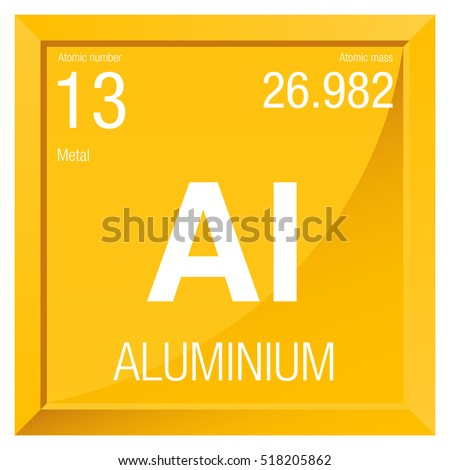 Aluminium symbol element number 13 periodic stock vector royalty element number 13 of the periodic table of the elements chemistry urtaz Image collections