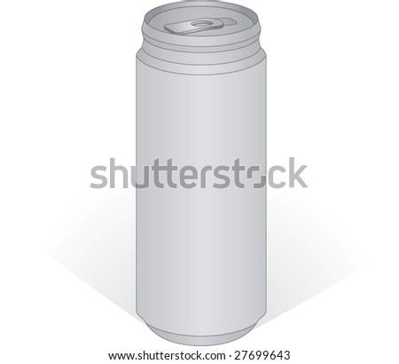 Aluminum can - stock vector