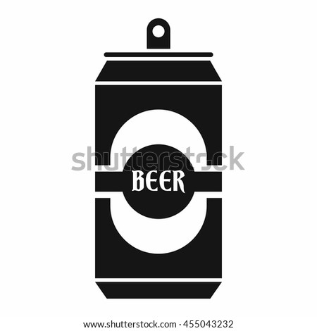 Aluminum can icon in simple style isolated vector illustration - stock vector